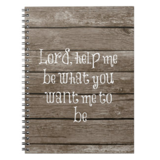 Rustic Wood with Christian Quote Notebook
