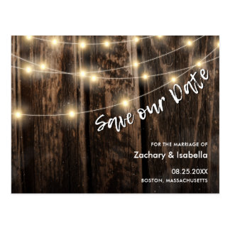 Rustic wood with light postcard