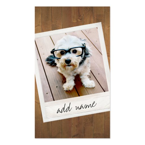 Rustic Wood with vintage photo frame Business Card