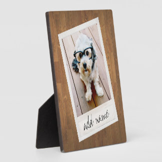 Rustic Wood with vintage square photo frame