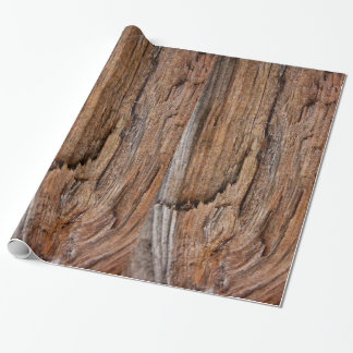 Rustic wood wrapping paper