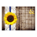 Rustic Wooden and Lace with Sunflower Wedding 13 Cm X 18 Cm Invitation Card