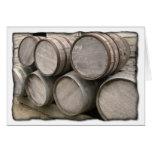 Rustic Wooden Barrels Greeting Cards