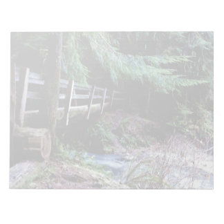 Rustic Wooden Bridge Olympic Park Notepads