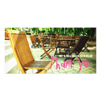 Rustic Wooden Chair Customised Photo Card