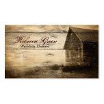 rustic woodgrain western farmhouse country fashion business card template