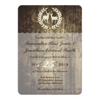 Rustic Woodland Buck and Deer Wedding Invite