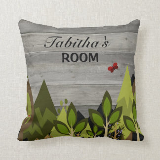 Rustic Woodland Forest Nursery Neutral Decor Cushion