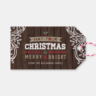 Rustic Woodland Holiday Gift Tag