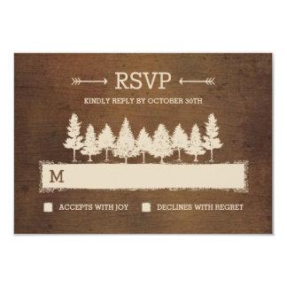 Rustic Woodland RSVP /Wedding Response Cards