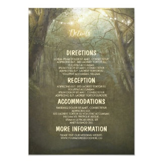 Rustic Woodland Wedding Details -Information Card