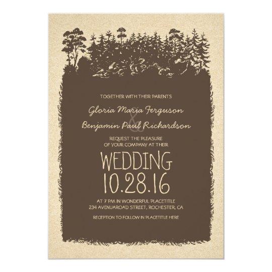 Rustic Woodland Wedding Invitations