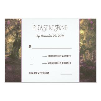 Rustic Woodland Wedding RSVP Card