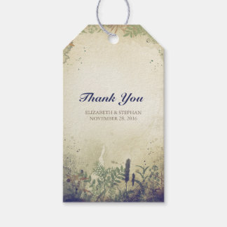 Rustic Woodland Wedding Thank You - NAVY Gift Tags