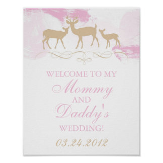 Rustic Woodland Wedding Welcome Poster