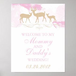 Rustic Woodland Wedding Welcome Poster