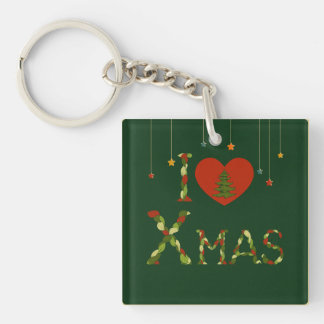 rustic,xmas,christmasl,cute,hipster,girly,vintage, Double-Sided square acrylic key ring