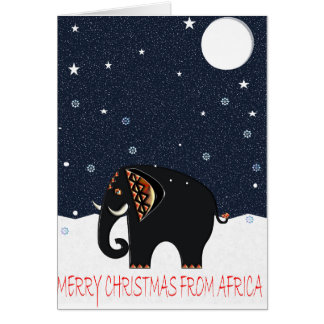 RUSTIC XMAS ELEPHANT 107 CARD