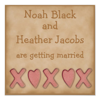 Rustic XOXO Wedding Invitation