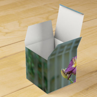 Rustic Yellow and Purple Flowers Favour Box