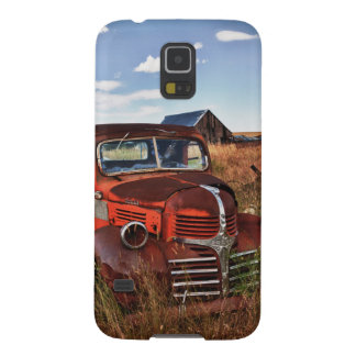 Rusting orange Dodge truck with abandoned farm Galaxy S5 Cases
