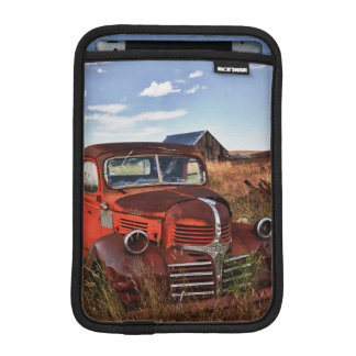 Rusting orange Dodge truck with abandoned farm iPad Mini Sleeve