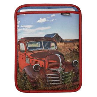 Rusting orange Dodge truck with abandoned farm iPad Sleeve