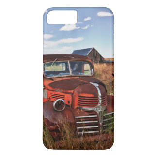 Rusting orange Dodge truck with abandoned farm iPhone 8 Plus/7 Plus Case