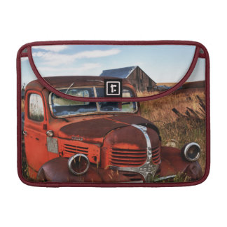 Rusting orange Dodge truck with abandoned farm Sleeve For MacBooks