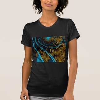 Rustling Leaves Abstract Fractal Design T-shirt