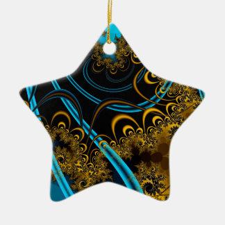 Rustling Leaves Ceramic Star Decoration