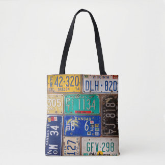 rusty American license plates Tote Bag