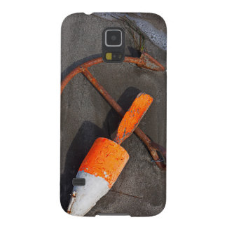 Rusty Anchor And Buoy On A Beach Cases For Galaxy S5