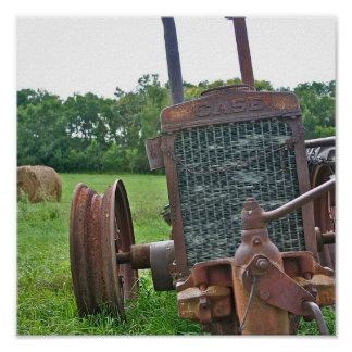 Rusty Antique Case Tractor Poster