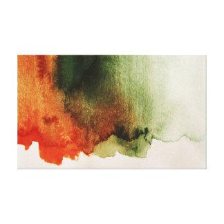 Rusty Autumn Watercolor Texture Canvas Print