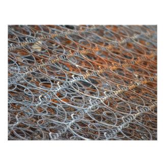 rusty bed springs steampunk industrial 21.5 cm x 28 cm flyer