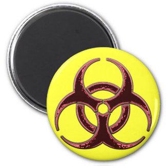Rusty Bio Hazard Symbol 6 Cm Round Magnet