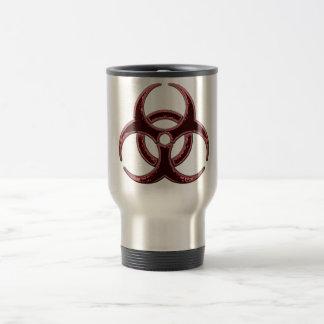 Rusty Bio Hazard Symbol Stainless Steel Travel Mug