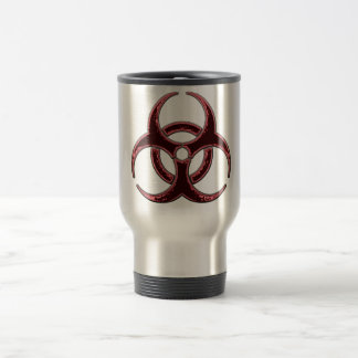 Rusty Bio Hazard Symbol Travel Mug