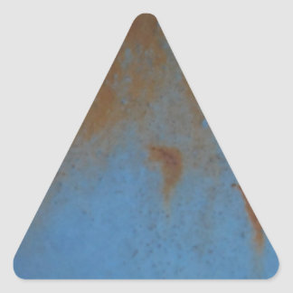 Rusty Blue background Triangle Stickers