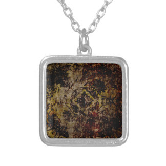 rusty brown damaged background custom necklace