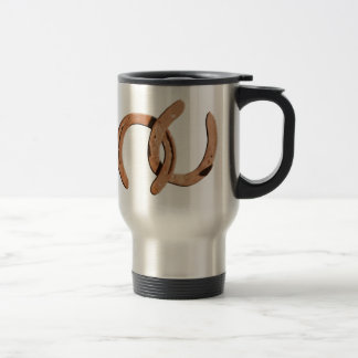 Rusty Brown Horse Shoes Stainless Steel Travel Mug