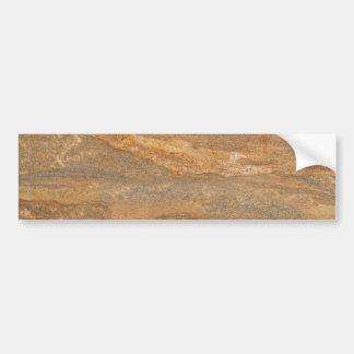 Rusty Brown Marble Background Bumper Sticker