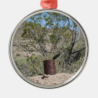 Rusty Can with bullet holes Christmas Ornament