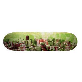 rusty city light green skateboard