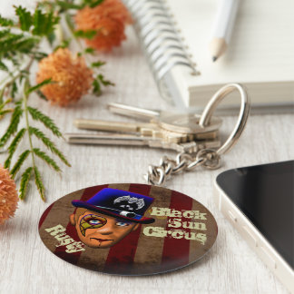 Rusty Clown Button Key Chain