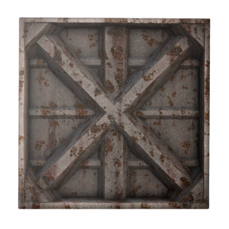 Rusty Container - Beige - Small Square Tile