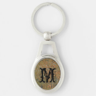 rusty cracked green paint key chains