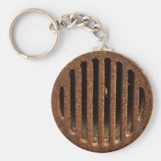 Rusty Drain Basic Round Button Key Ring