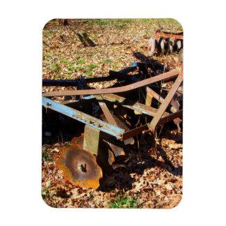 Rusty Farm Field Equipment Rectangular Photo Magnet